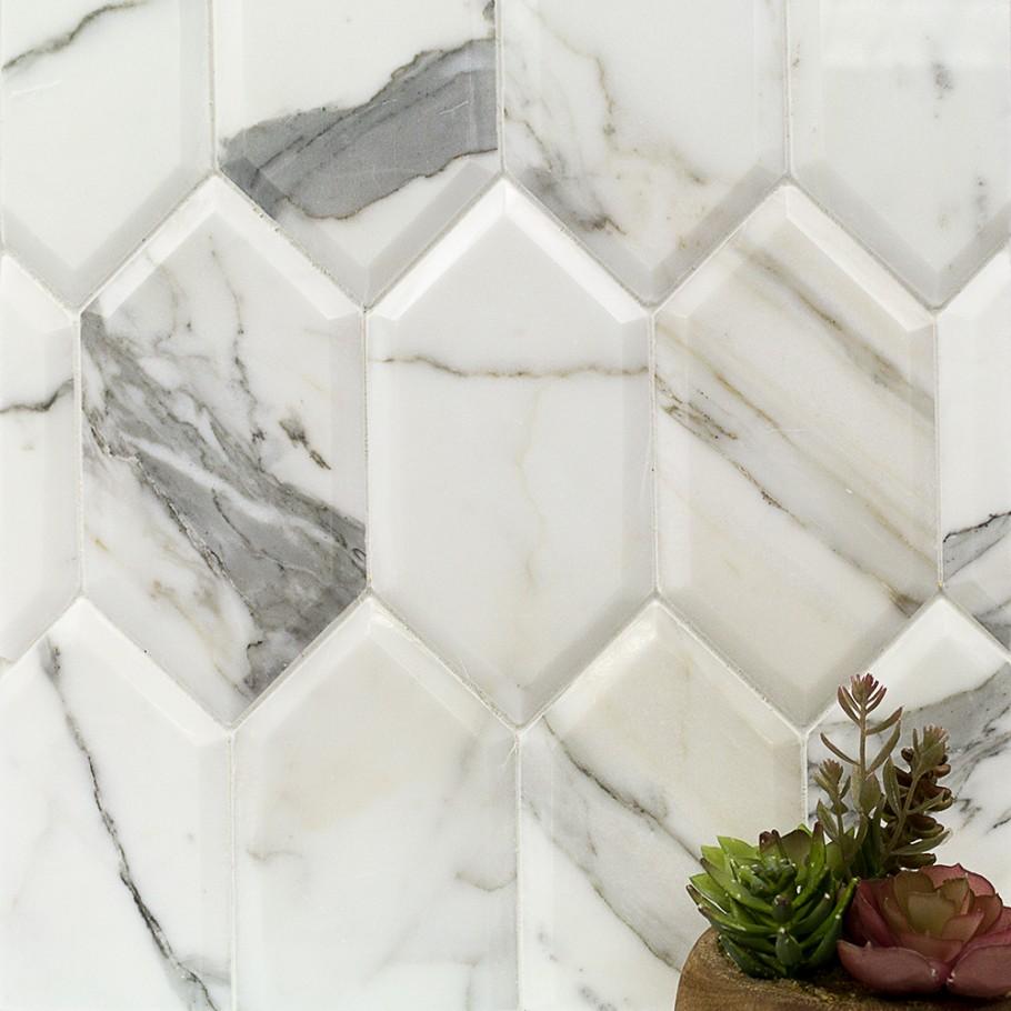 Calcutta Marble Backsplash Kitchen